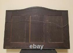 1800s ANTIQUE Mission Oak Wood Beveled Glass Mirror Vanity Wall Very Heavy