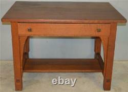 18574 Mission Oak Writing Desk by Limbert
