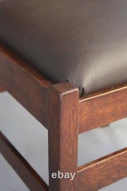 1910 Arts & Crafts Mission Charles Stickley Side Chair Craftsman Antique (8453)