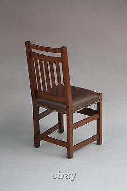 1910 Limbert Chair Arts & Crafts Craftsman Mission Seat Oak Wood Riveted