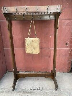 1920s Mission Arts And Crafts Hall Tree Clothing Rack Bedroom Antique Industrial