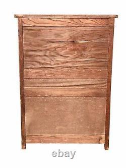 20th C Antique Arts & Crafts / Mission Oak Bookcase / China Cabinet