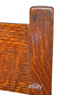20th C Antique Arts & Crafts / Mission Oak L&jg Stickley Tiger Oak Rocking Chair