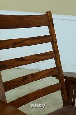 32399EC Mission Oak STICKLEY Design Bow Arm Morris Chair
