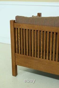 49765EC STICKLEY Mission Oak Spindled Side Sofa