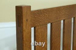 50802EC STICKLEY King Size Mission Oak Bed