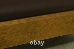 51789EC STICKLEY Mission Oak Arts & Crafts Leather Sofa