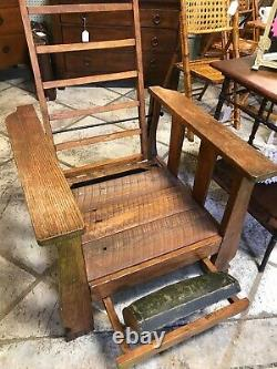 ARTS AND CRAFT MISSION MORRIS CHAIRRECLINER WithFOOTREST-EXCELLENT
