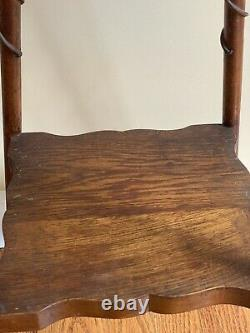 ARTS & CRAFTS Mission Tambouret Plant Stand Two Tier Table Oak