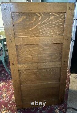 Antique Arts & Crafts Mission Oak 4 Drawer Filing Library Sole Cabinet Makers