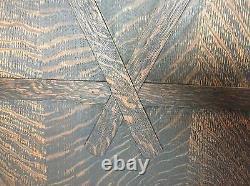 Antique Arts & Crafts Mission Screen, Quartersawn Oak, 60w X 70/71h, Dark Oak