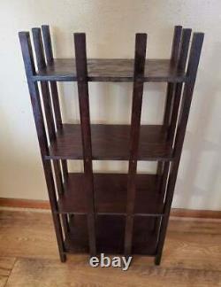 Antique Arts & Crafts Mission Style Book Shelf Quarter Sawn Oak 36x17x9