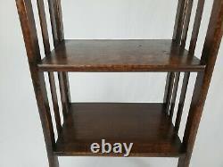 Antique Arts & Crafts Mission Style Quarter Sawn Oak 4 Shelf Book Case 39