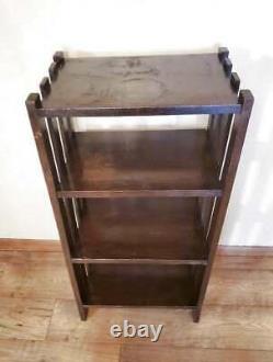 Antique Arts Mission Oak Book Shelf 4 Tier 40 x 19.75 x 12.75