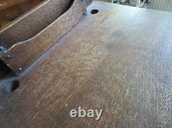 Antique Arts and Crafts Mission Oak Entry Hall Telephone Mail Desk Stand Table