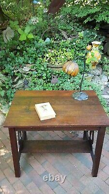 Antique Arts and Crafts Mission Oak Library Table PRICE DROP