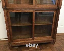 Antique DANNER OAK SECTIONAL LAWYERS (STACKING) BOOKCASE With SLIDING DOORS