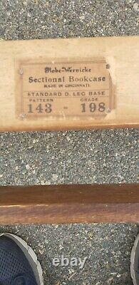 Antique Globe Wernicke Oak Mission Barrister Lawyers Bookcase