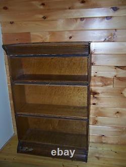 Antique Hale Oak Barrister 3 Section Stacking Bookcase Mission Oak Quatersawn