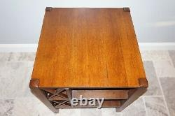 Antique J. M. Young mission book/ table cabinet arts and crafts