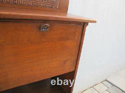 Antique LIMBERT DESK Oak Narrow Size Arts Crafts Stickley Era W5779
