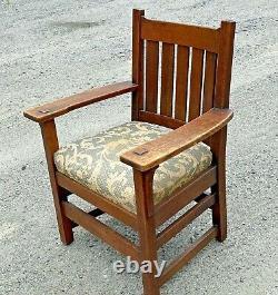 Antique L & JG Stickley Arm Chair Mission Oak Arts & Crafts BUYER PICK UP