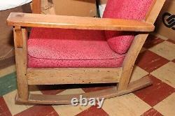 Antique Limbert Rocking Chair Oak Rocker Charles Stickley Era Mission