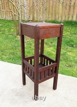 Antique MISSION OAK FERN TABLE PLANT STAND Handmade ARTS & CRAFTS Stickley Era