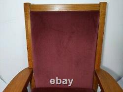 Antique Mission Arts & Crafts Quartersawn Solid Tiger Oak Wood Rocking Chair