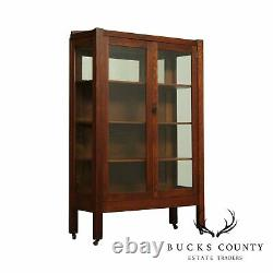 Antique Mission Oak 2 Door Bookcase China Cabinet