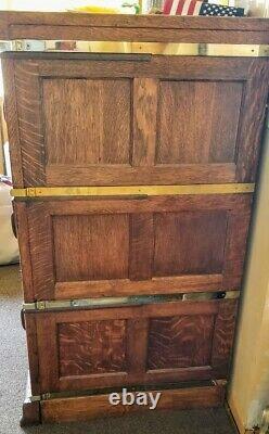 Antique Mission Oak 9 Drawer Stacking Folder File Cabinet Solid Heavy Wood NICE