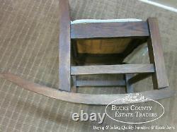 Antique Mission Oak Armless Nursing Stickley Style Rocker Rocking Chair