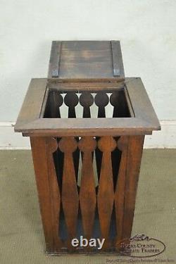 Antique Mission Oak Arts & Crafts Wastebasket