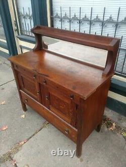 Antique Mission Oak Arts and Crafts Period Sideboard