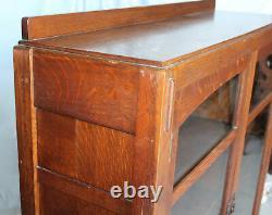 Antique Mission Oak Bookcase Double door Limbert Arts and Crafts