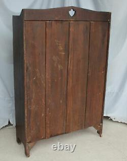 Antique Mission Oak Bookcase leaded glass windows