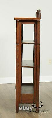 Antique Mission Oak China Cabinet