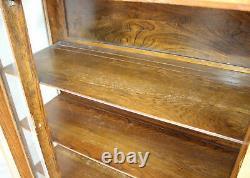 Antique Mission Oak China Cabinet Curio original finish Arts & Crafts Style