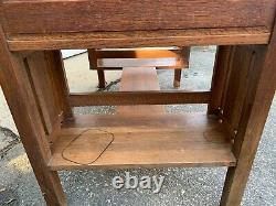 Antique Mission Oak Desk Arts and Crafts Deco Style