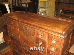 Antique Mission Oak Globe Stacking Paper/Card File Cabinet 41 Drawers