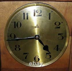 Antique Mission Oak Grandfather Weight Driven Clock with Chime & German Works