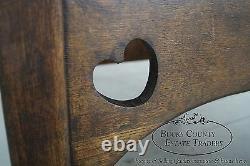 Antique Mission Oak & Leather Cube Chair