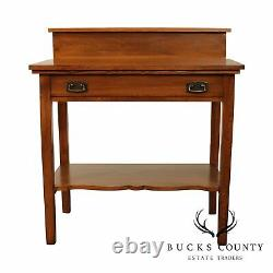 Antique Mission Oak One Drawer Server, Console Table