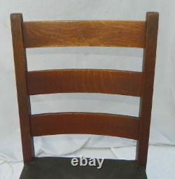 Antique Mission Oak Rocking Chair Gustav Stickley Rocker Arts and Crafts