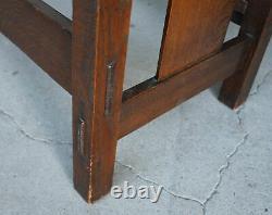 Antique Mission Oak Settle Gustav Stickley #205 only 56 wide