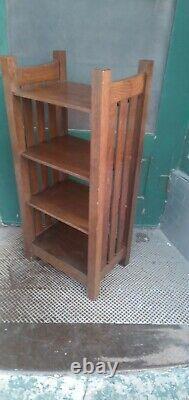 Antique Mission Oak Stickley Magazine Stand Bookshelf Arts and Crafts