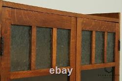 Antique Mission Oak Style 2 Door Bookcase