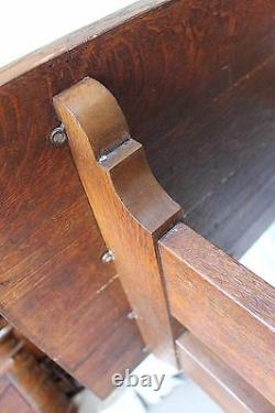 Antique Mission Oak Trestle table Key tendons Stickley
