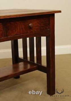 Antique Mission Oak Writing Desk