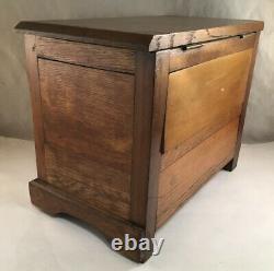 Antique Mission Period Arts And Crafts Oak Miniature Chest Box Salesman Sample